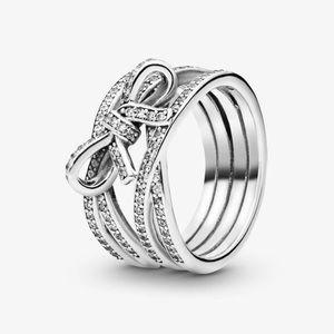 sparkling ribbon & bow ring pandora ring